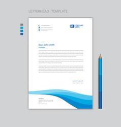 Creative letterhead template vector