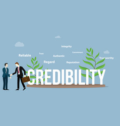 Credibility business personal concept with big vector
