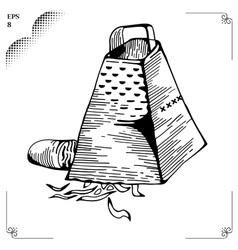 Culinary cut Chiffonade or Baton vector