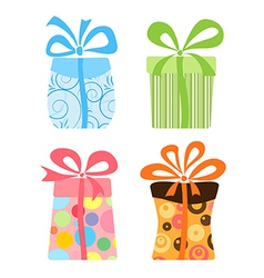 Cute gift boxes collection vector