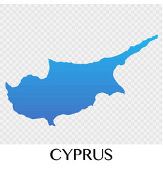 cyprus map in europe continent design vector image