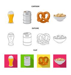 Design pub and bar symbol set pub vector