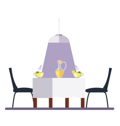 dining table and chairs flat style vector image