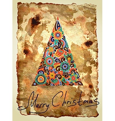 dirty ornamental christmas design vector image