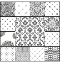 Eastern backgrounds seamless patterns vector image