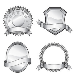 emblem badges vector image