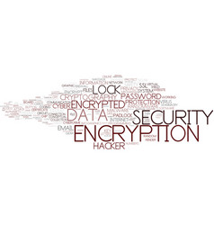 Encryption word cloud concept vector