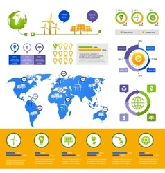 Energy infographic template vector image
