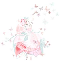 fashion with ballerina dancer vector image