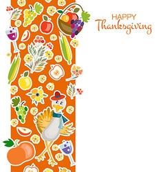 Flat design style Happy Thanksgiving Day vector