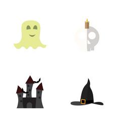 flat icon celebrate set cranium spirit witch vector image