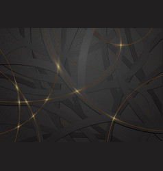 geometric black and gold background vector image
