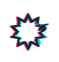 glitch distortion frame star vector image vector image