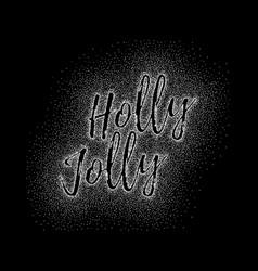 Glitter calligraphic inscription vector