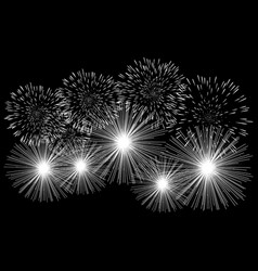 graphic of fireworks vector image