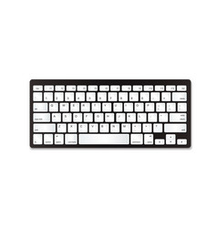 Grey plastic keyboard with white buttons vector
