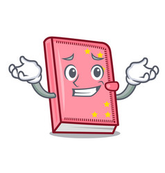 Grinning diary character cartoon style vector
