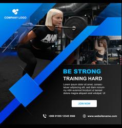 Gym fitness social media banner template design vector