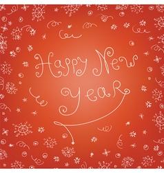 handwritten new year vector image