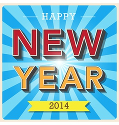 Happy new year retro poster vector