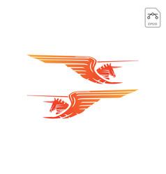 horse pegasus logo design inspiration icon vector image