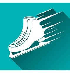 Ice Skate Icon Long Shadow vector