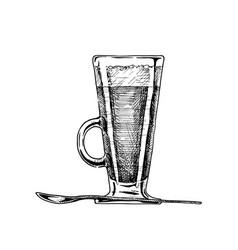 irish coffee glass vector image