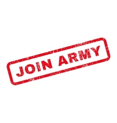 Join Army Text Rubber Stamp vector image