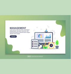 landing page template management modern flat vector image