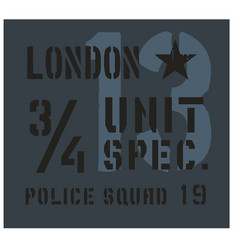 london military plate design vector image