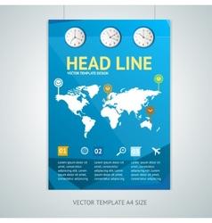 maps brochure flyer design templates vector image