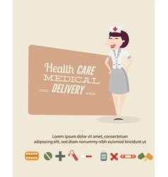 Medical with infographic elements and nurse vector
