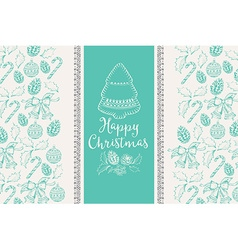 Merry christmas banner vector image