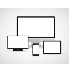 Modern technology devices computer monitor digital vector image