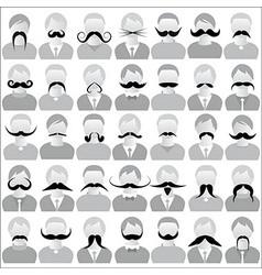 Moustaches set mustache icons vector