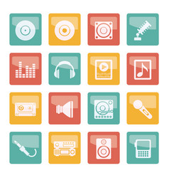 music and sound icons over colored background -vec vector image