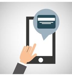 Network smartphone payment credit card digital vector