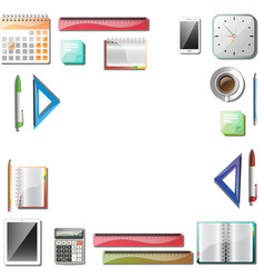 Office tools background vector