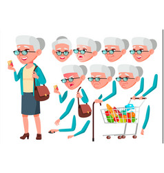 Old woman senior person aged elderly vector