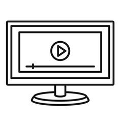 online learning icon outline style vector image