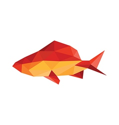 origami fish vector image