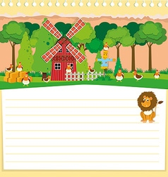 Paper design with farm theme vector image
