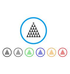 Ponzi pyramid scheme icon vector