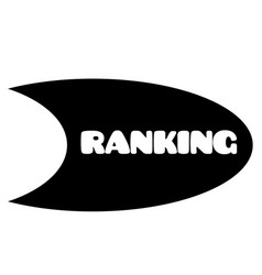 ranking stamp on white vector image