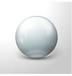 realistic transparent ball white background vector image