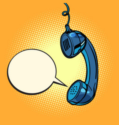 retro handset comic bubble vector image