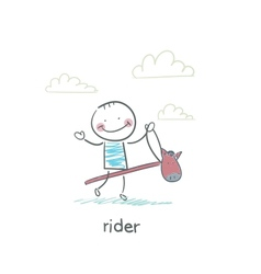 Rider on a horse toy vector image