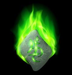 Runic stone vector