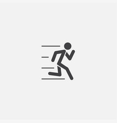 running base icon simple sign vector image