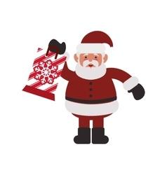 santa merry christmas design vector image